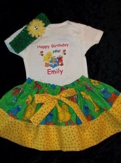 dress Sesame Street Baby Girl personalized onesie elmo bow 12 18 2t