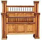 Rustic Hierro Bed * Western * King or Queen, Side rails and slats
