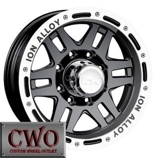 16 Black ION 133 Wheels Rims 5x114.3 5 Lug Jeep Wrangler Ranger