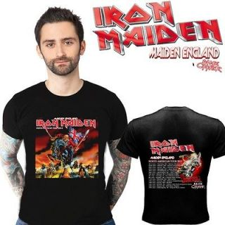 new iron maiden tour 2012 two side black shirt s
