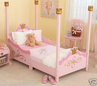 Kidkraft Kids Wood Girls Pink Princess Toddler Bed Cot Sturdy