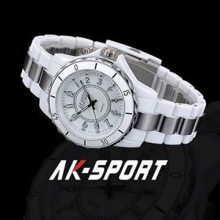 AK Sport Mens 7 Colors Flashing LED lights White Sport Wrist Watch