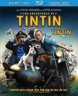 The Adventures of Tintin Blu ray DVD, 2012, Canadian