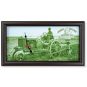 john deere antique steel wheel tractor clock new in pkg