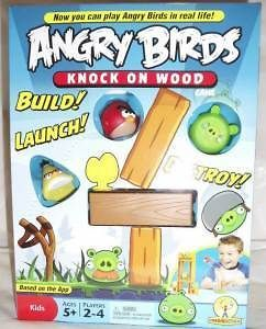 mattel angry birds knock on wood game htf