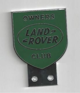 newly listed land rover owner club car badge series 1