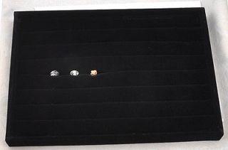 new style high quality 3.5*25*35cm black velvet display holder for