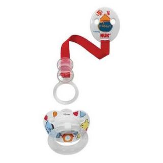 Cute Nuk Disney® Winnie the Pooh Orthodontic Silicone Pacifier +Clip