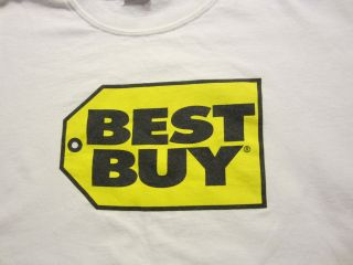 Mens T Shirt BEST BUY   ELECTRONICS STORE white size sz L