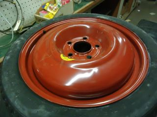 Saab 9 5 95 spare wheel and tire 1999 2004 models never used dirt