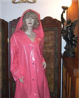 NEW Shiny Xtra Large Hood Raincoat PVC Vinyl Slicker Rain Coat Rain
