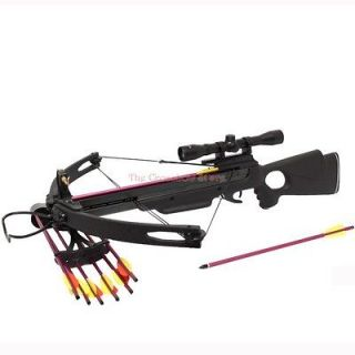 Spider 150LB Hunting Compound Crossbow 4x32 Scope Package with Quiver