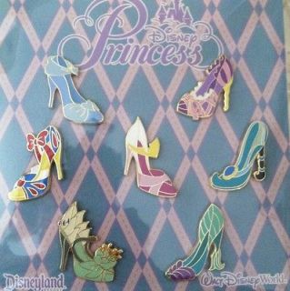Newly listed Disney Trading Pins Princess Shoe Booster Pack Of 7. Lot