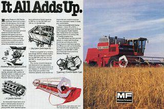 1984 massey ferguson mf 860 combine 2 page farm tractor