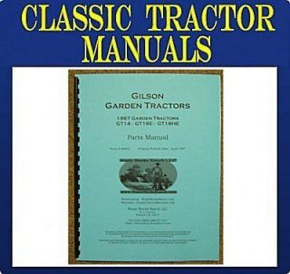 gilson montgomery wards 1987 garden tractor parts manua time left