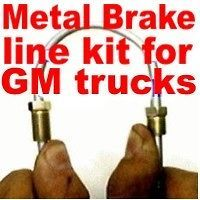 Complete metal brake line kit Chev S10 GMC S15 82 to 98  replace