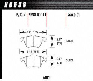 Hawk Performance HB538Z.760 Disc Brake Pad
