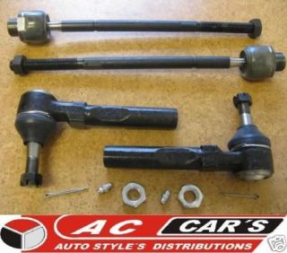 Set 2 Inner 2 Outer tie rod ends High quality Low price (Fits Nissan)