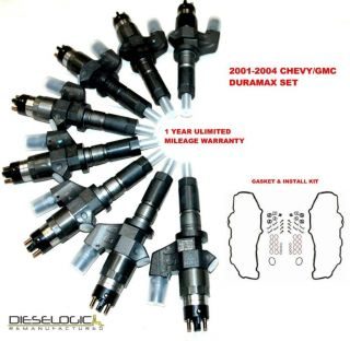 2001 04 CHEVY/GMC DURAMAX LB7 6.6L DIESEL INJECTOR SUPER SET 6.6