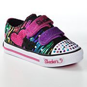 Toddler Girls SKECHERS Twinkle Toes Triple Time Light up Shoes size 9