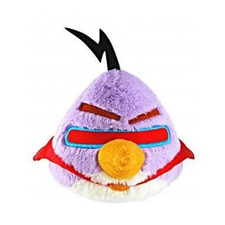 New Angry Birds in Space 5 Purple Bird with Sound Soft Plush Kids Toy