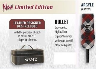 WAHL ARGYLE STERLING BULLET TRIMMER + FREE DESIGNER LEATHER CASE!