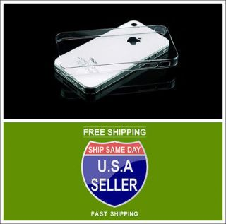 iPhone 4, 4G 4S   Ultra Thin Clear Crystal Snap On New Hard Case Cover