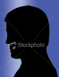 Silhouette, Tête, Visage, Profil, Hommes Photo libre de droits