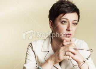 Femmes dâge moyen, Travail à domicile, Affaires, Costume, Pensif