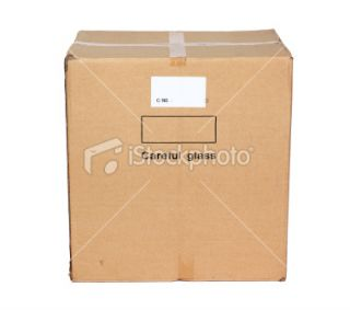 stock photo 12334605 side view of closed cardboard box