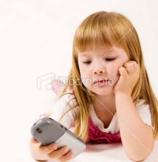 stock photo 7168107 little girl calling up