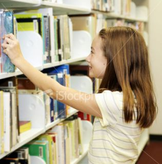 School Library   Shelves Royalty Free Stock Photo