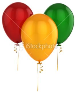 Helium balloons birthday party decoration  Stock Photo  iStock