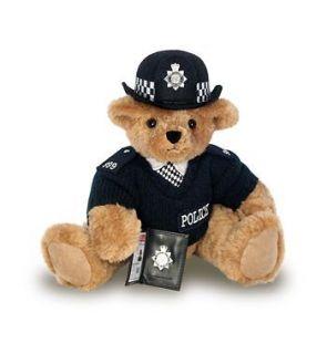 BRITISH FEMALE BOBBY POLICE TEDDY BEAR ROYAL WEDDING Sold Out In