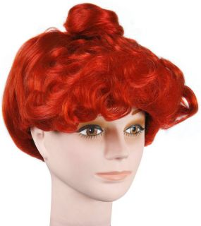 adult wilma flintstone womans costume hair wig one day shipping
