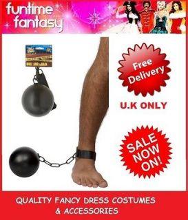 ADULT FEMALE MALE UNISEX FANCY DRESS COSTUME PRISONER CONVICT BALL