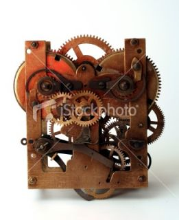 stock photo 6511560 clock machine details