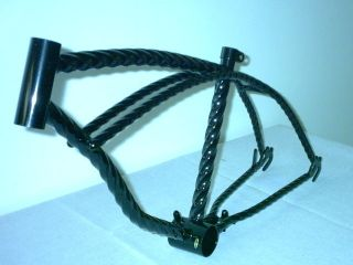 20 black twisted lowrider bicycle frame bike cycling time left