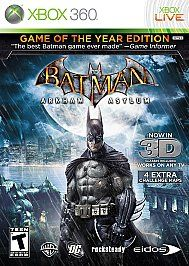 Platinum Hits,Batman Arkham Asylum (Game of the Year Edition) (Xbox