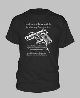 BOONDOCK SAINTS ~ T SHIRT size LARGE Gun Rosary Prayer boon dock