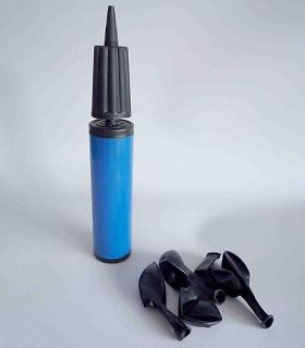 blue palstic balloon pump inflator hand held from china