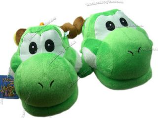 NEW Nintendo Super Mario Bros Yoshi Plush Doll Slipper Slippers