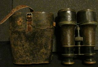 Antique Lemaire Fabt Paris Millitary Binoculars Late 19th early 20th