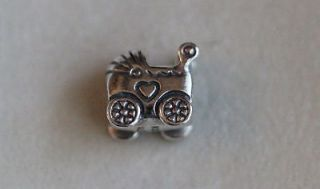 AUTHENTIC PANDORA 790346 BABY CARRIAGE CHARM STERLING SILVER 925 ALE