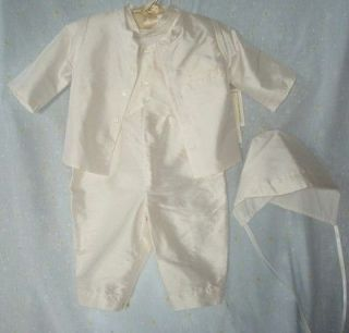 BAPTISM CHRISTENING BABY BOY SUIT $152 LITTLE THINGS MEAN A LOT 3PC