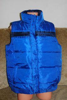 New Mens Authentic Mark Ecko Unltd Olympic Blue Zip Bubble Vest $80