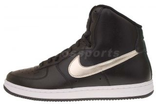 Nike Wmns Air Force 1 Light High Black Silver Womens Casual Shoes AF1