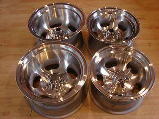 A+ 60s Vintage Ansen Sprint Slot 15x10 14x8 Mags Wheels Rim Bean GM 5