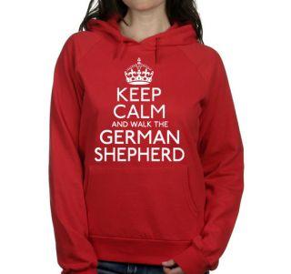 AND WALK THE GERMAN SHEPHERD LADIES PET DOG HOODIE WOMENS GIFT #247
