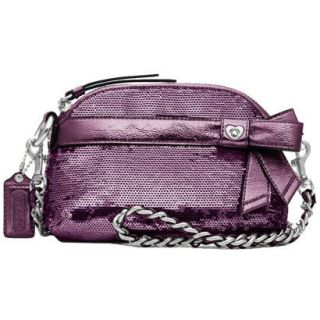 COACH 46100 POPPY Sequins Mini Gem Crossbody Bag Amethyst NWT limited